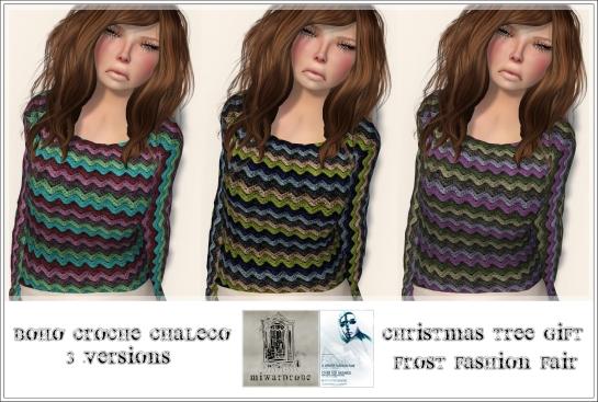 MiWardrobe - Boho Croche Chaleco - Christmas Tree Gift - Frost Fashion Fair - P