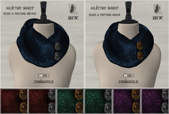 MiWardrobe - Glitter Scarf - Full - P
