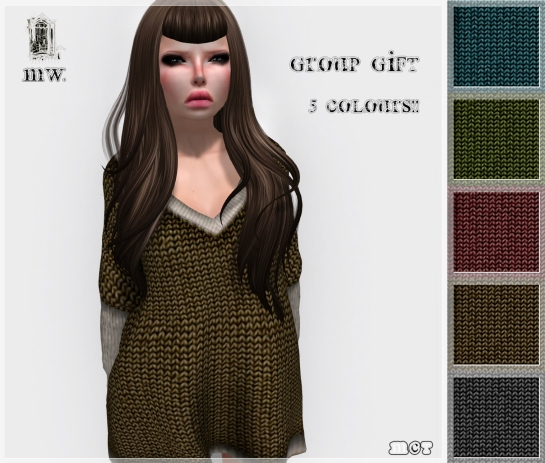 MiWardrobe - Group Gift - Long Sweater - 5 Colours - P