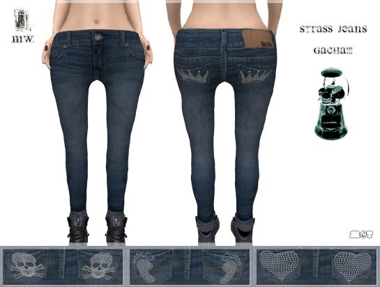 MiWardrobe - Strass Jeans - Gacha!! - P
