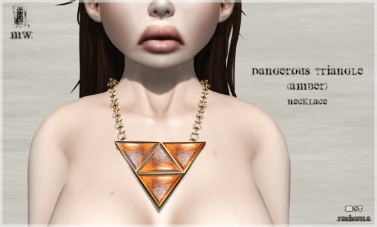 MiWardrobe - Dangerous Triangle - Amber - Necklace - P
