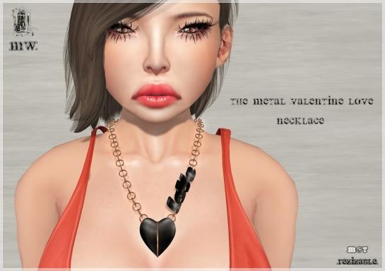 MiWardrobe - The Metal Valentine Love - Necklace - NY Hunt - P