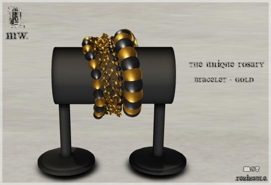 MiWardrobe - The Unique Rosary - Bracelet - Gold - P
