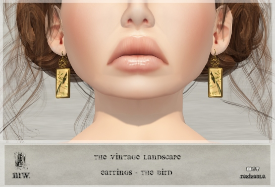 MiWardrobe - The Vintage Landscape - Earrings - The Bird - MW - P