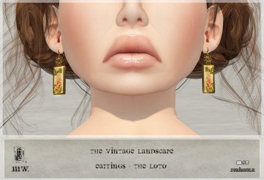 MiWardrobe - The Vintage Landscape - Earrings - The Loto - MW - P