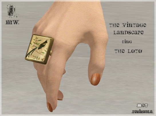 MiWardrobe - The Vintage Landscape - Ring - The Bird - MW - P