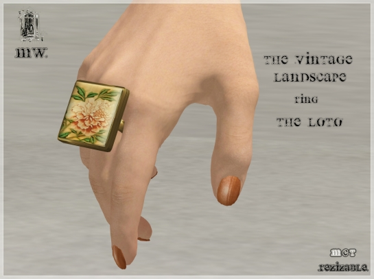 MiWardrobe - The Vintage Landscape - Ring - The Loto - MW - P