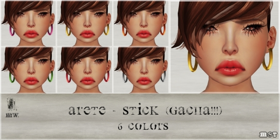 MiWardrobe - Arete Stick - Gacha - 6 Colors - P
