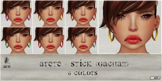 MiWardrobe - Arete Stick - Gacha - 6 Colors - P