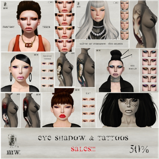 MiWardrobe - Eye Shadow & Tattoos - Sales!!! - P
