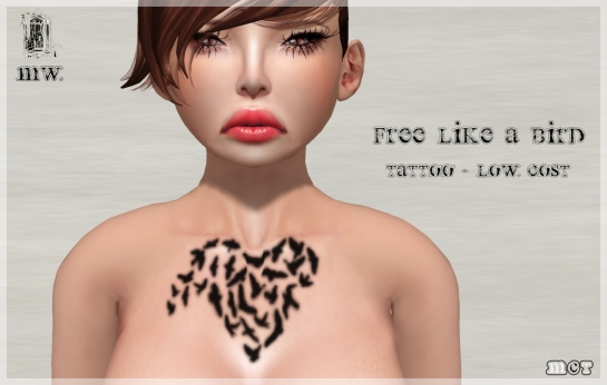 MiWardrobe - Free Like a Bird - Tattoo - Low Cost - P