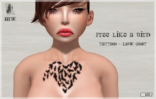 MiWardrobe - Free Like a Bird - Tattoo - Low Cost - P