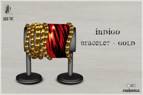 MiWardrobe - Indigo - Bracelet - Gold - P