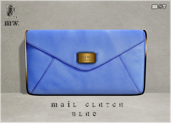 MiWardrobe - Mail Clutch - Blue - P