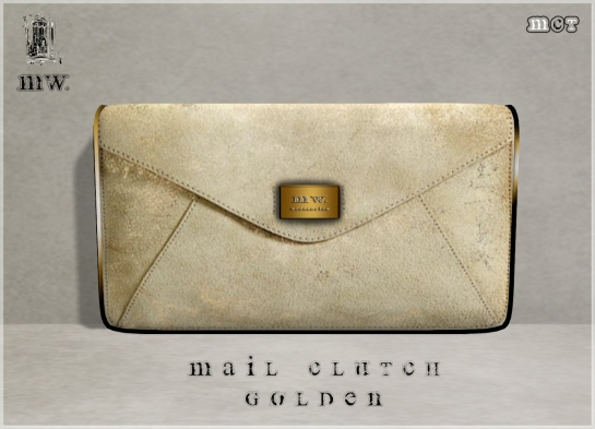 MiWardrobe - Mail Clutch - Golden - P