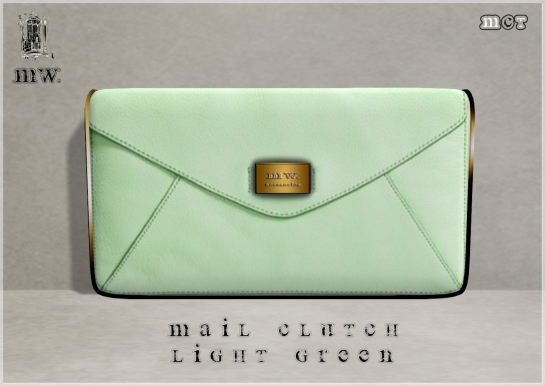 MiWardrobe - Mail Clutch - Light Green - P