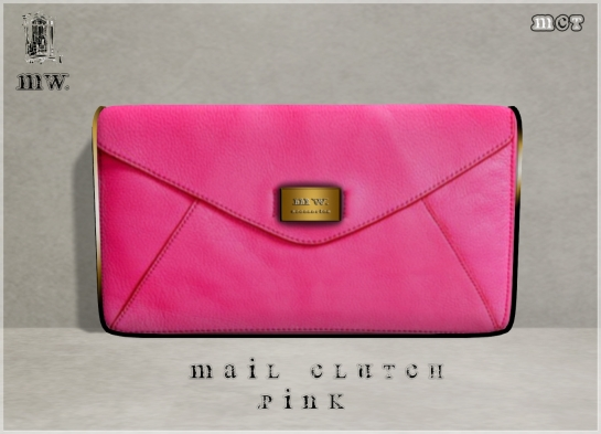 MiWardrobe - Mail Clutch - Pink - P