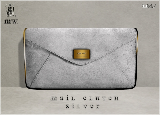 MiWardrobe - Mail Clutch - Silver - P