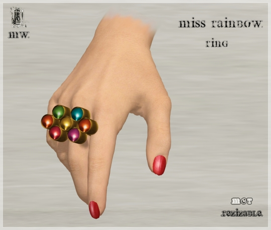 MiWardrobe - Miss Rainbow - Ring - P
