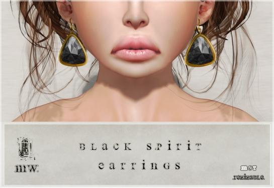 MiWardrobe - Black Spirit - Earrings - P
