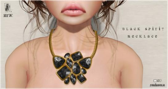 MiWardrobe - Black Spirit - Necklace - 2P