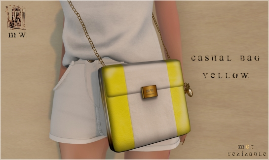 MiWardrobe - Casual Bag - Yellow - MW - P