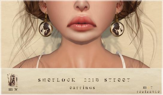 MiWardrobe - Sherlock 221 Baker Street - Earrings - P