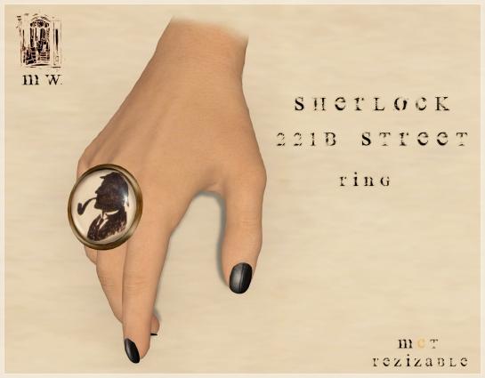 MiWardrobe - Sherlock 221 Baker Street - Ring - P