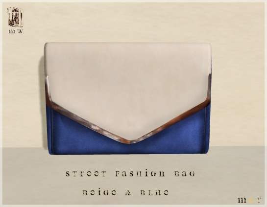 MiWardrobe - Street Fashion - Bag - Beige & Blue - P
