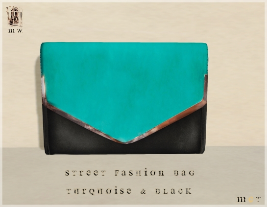 MiWardrobe - Street Fashion - Bag - Turquoise & Black - P