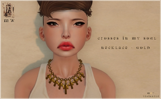 MiWardrobe - Crossess in my Soul - Necklace - Gold - MW - P