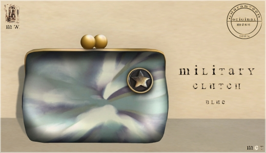MiWardrobe - Military Clutch - Blue - P