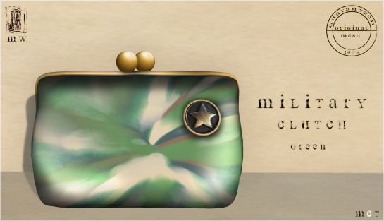 MiWardrobe - Military Clutch - Green - P