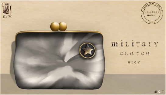 MiWardrobe - Military Clutch - Grey - P