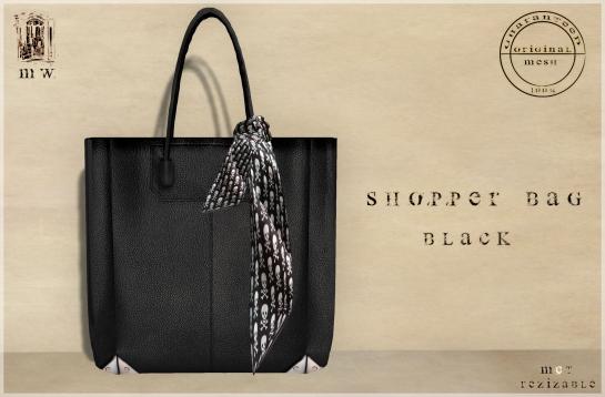 MiWardrobe - Shopper Bag - Black - P
