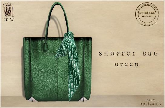 MiWardrobe - Shopper Bag - Green - P