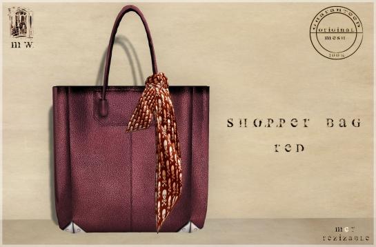 MiWardrobe - Shopper Bag - Red - P