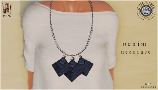 MiWardrobe - Denim - Necklace - MW - P