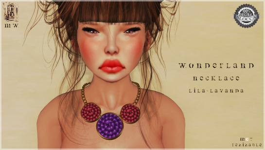 MiWardrobe - Wonderland - Necklace - Lila-Lavanda - P