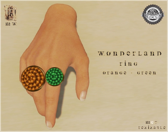 MiWardrobe - Wonderland - Ring - Orange-Green - P