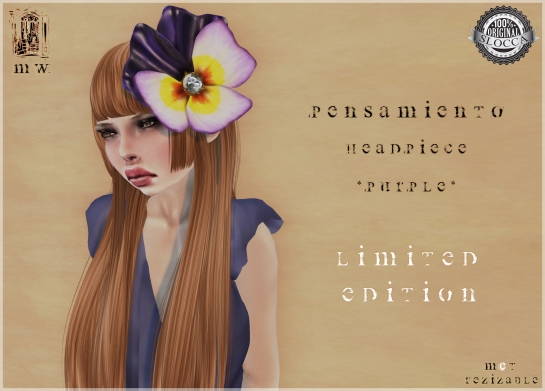MiWardrobe - Pensamiento - Headpiece - Lila - Limited Edition - MW - P