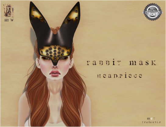 MiWardrobe - Rabbit Mask - Headpiece - P