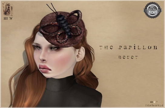 MiWardrobe - The Papillon Beret - Headpiece - MW - P