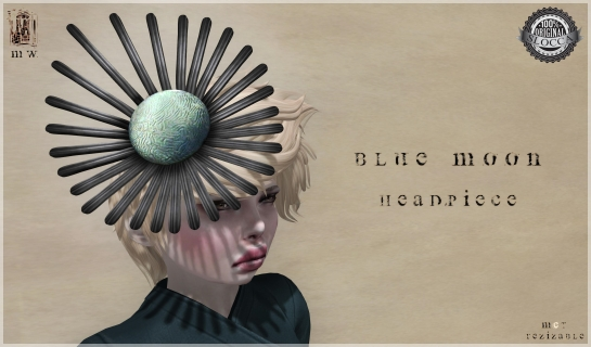 MiWardrobe - Blue Moon - Headpiece - MW - P