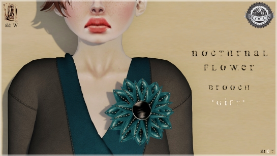 MiWardrobe - Nocturnal Flower - Brooch - MW - P