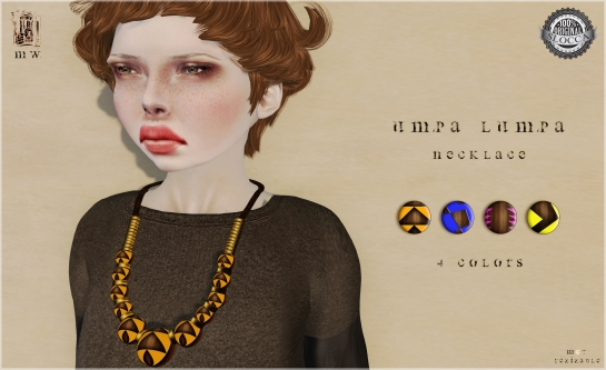 MiWardrobe - Umpa Lumpa - Necklace - 4 Colors - L´accessoires Hunt!! - MW - P