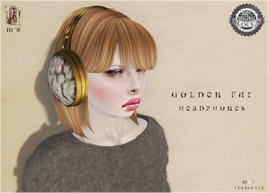 MiWardrobe - Golde Fur Headphones - Main - MW - P