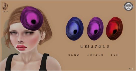 MiWardrobe - Amapola - Headpiece - B-P-R - MW - P