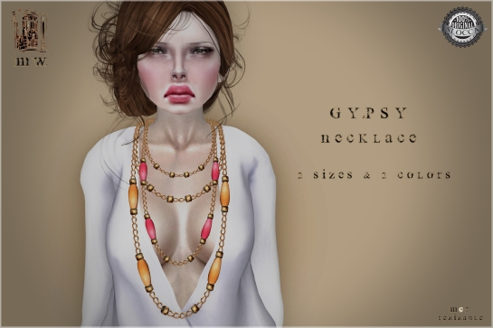 MiWardrobe - Gypsy - Necklace - Orange & Red - MW - P