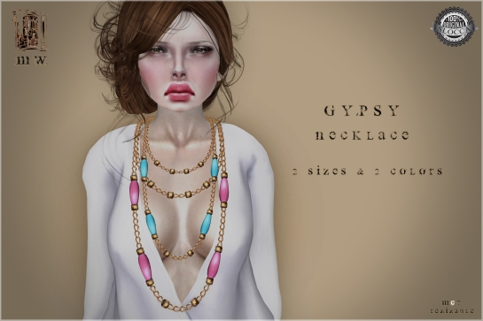 MiWardrobe - Gypsy - Necklace - Sky & Pink - MW - P